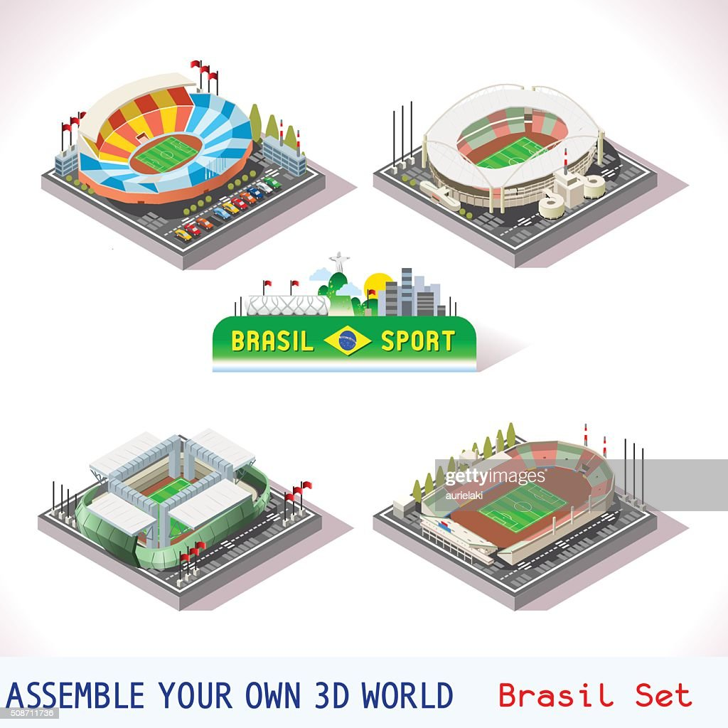 Game Set 12 Building Isometric
