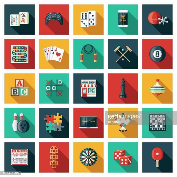 game shop icon set - pool ball stock illustrations