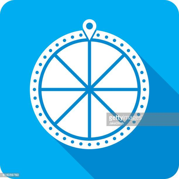 game show wheel silhouette - wheel stock illustrations, clip art, cartoons, & icons