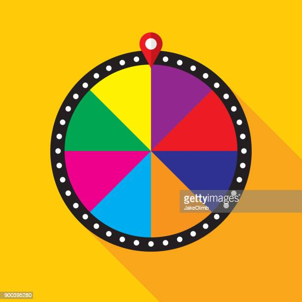 game show wheel - wheel stock illustrations, clip art, cartoons, & icons