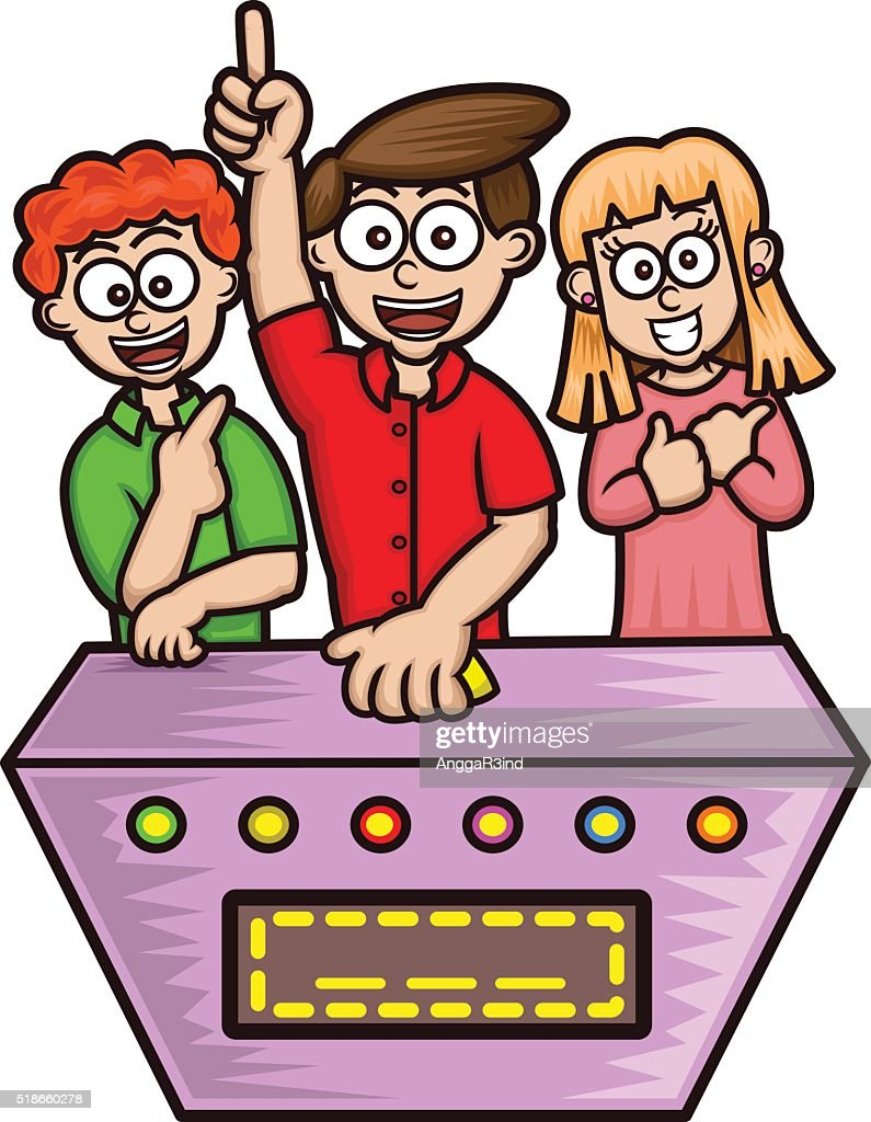 Game Shows Contestants Cartoon
