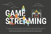 Game streaming concept illustration