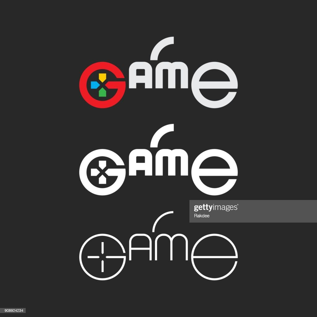 Game - Typography Series : Stock Illustration