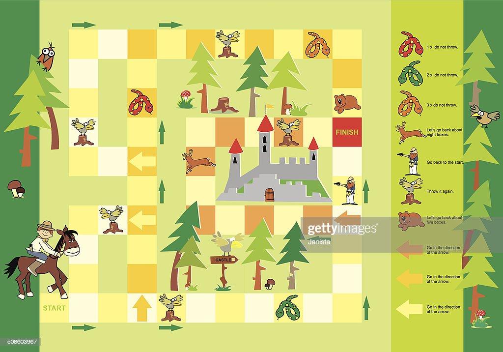 Jogo-para o Castelo : Arte vetorial