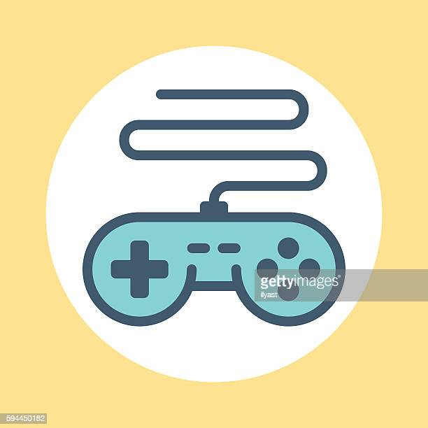 gamepad symbol - joystick stock illustrations, clip art, cartoons, & icons