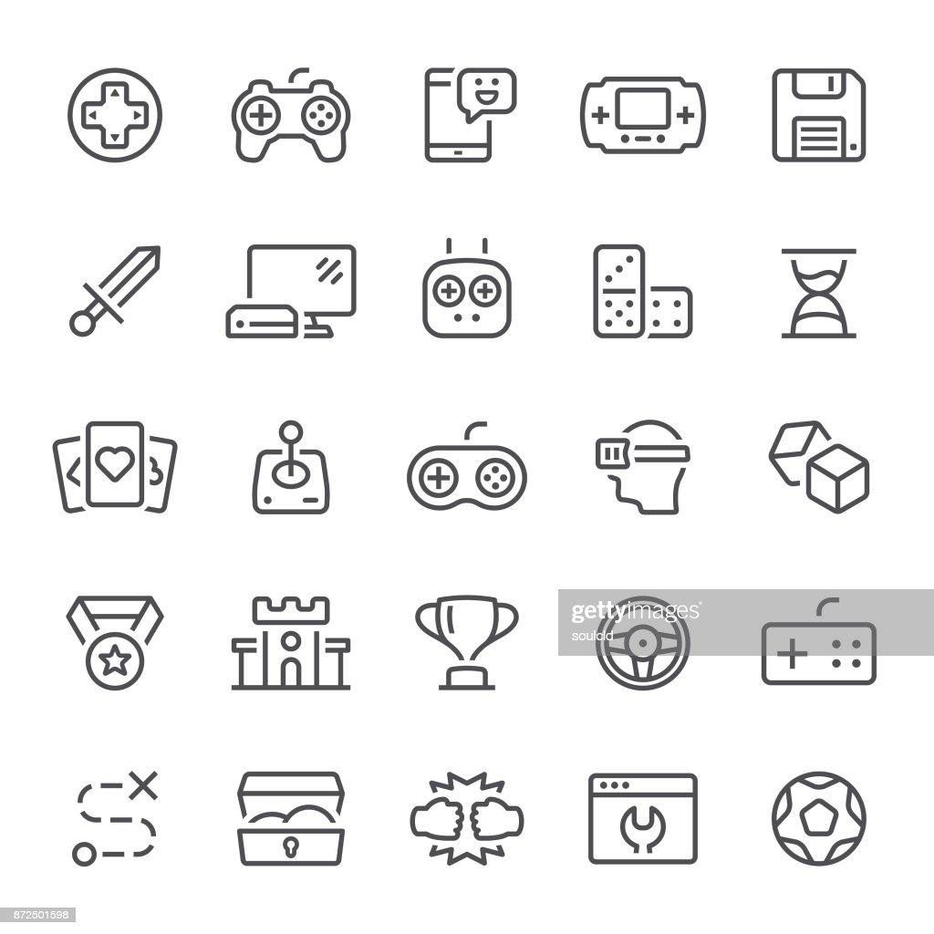 Games Icons : stock illustration
