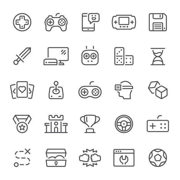 games icons - fantasy stock illustrations