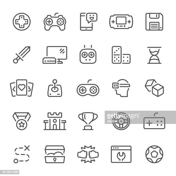 games icons - leisure games stock illustrations