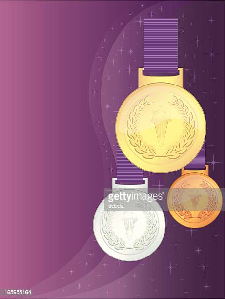 uk . games winners' medals - sport torch stock illustrations, clip art, cartoons, & icons