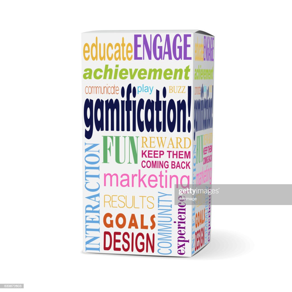 gamification word on product box