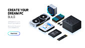 Gaming and workstation computer components set