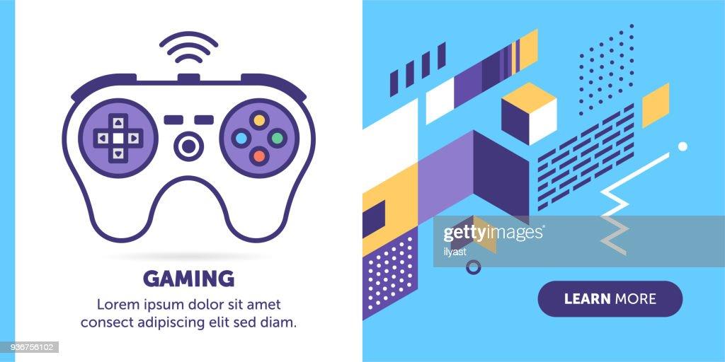 Gaming Banner : stock illustration