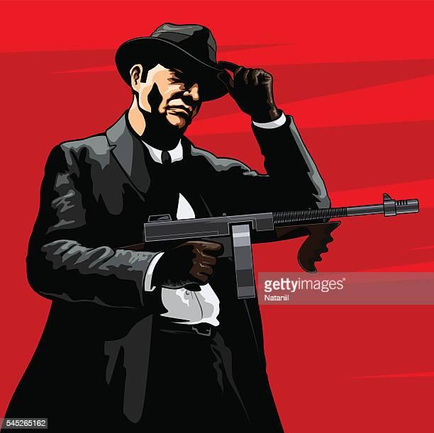 gangster - gangster stock illustrations