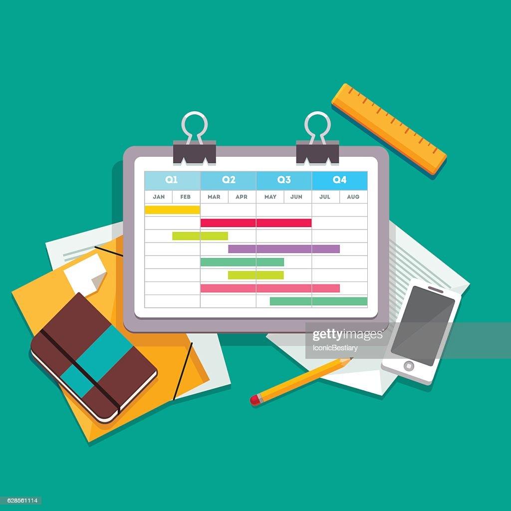 Gantt chart planning process document