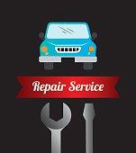 Garage design, vector illustration.