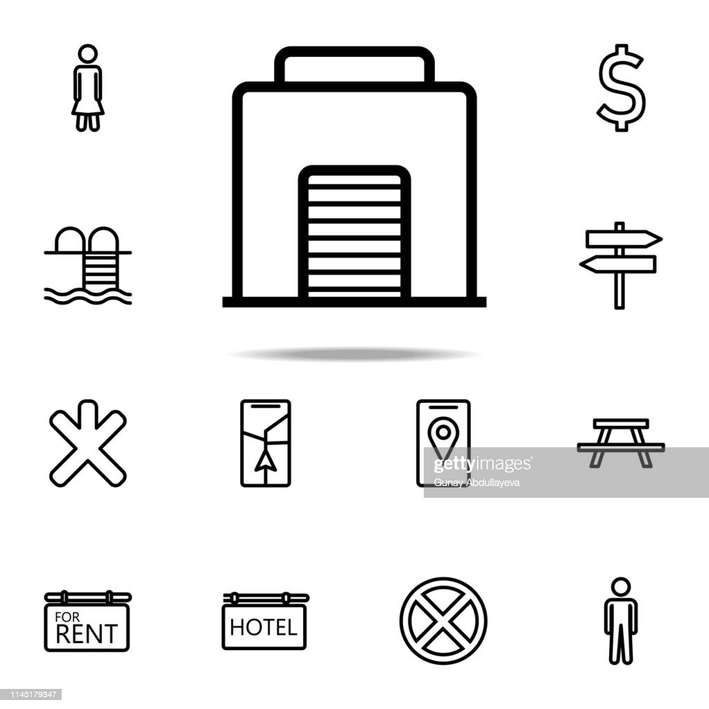 garage icon. Navigation icons universal set for web and mobile