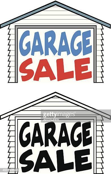 ilustraciones, imágenes clip art, dibujos animados e iconos de stock de venta de garaje de aviso previo - venta de garaje