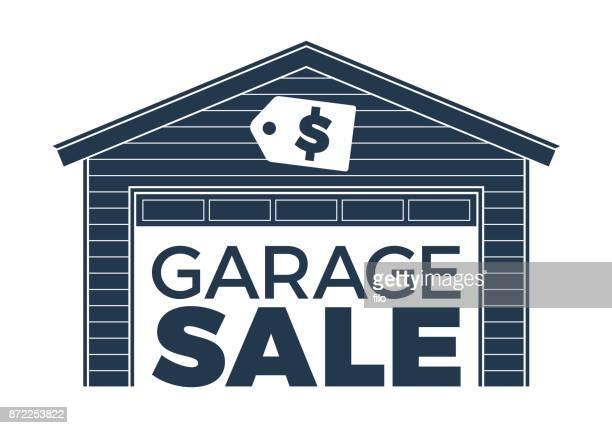 ilustraciones, imágenes clip art, dibujos animados e iconos de stock de garaje desordenado - venta de garaje