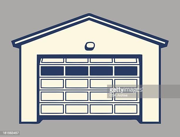 Garage with Paned Door