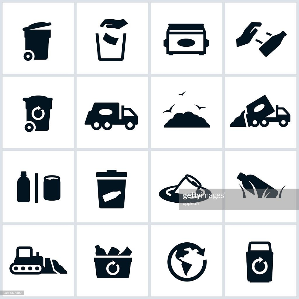 Garbage And Waste Management Icons