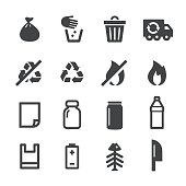 Garbage and  Waste Sorting Icons - Acme Series