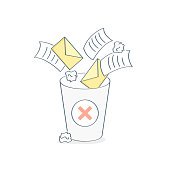Garbage collection and removal of unnecessary files, clearing of spam, letters, papers and documents