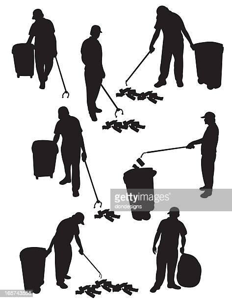 ilustrações de stock, clip art, desenhos animados e ícones de serviço de recolha de lixo - gari