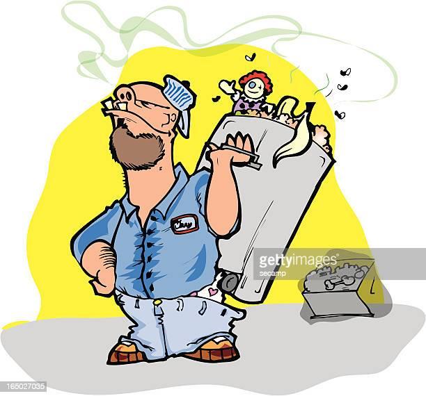 ilustrações de stock, clip art, desenhos animados e ícones de homem do lixo - gari