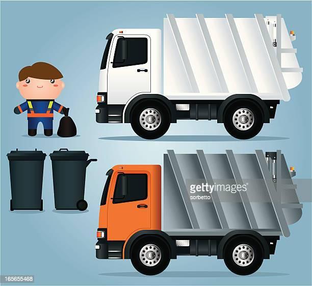 ゴミ 収集 車 イラスト