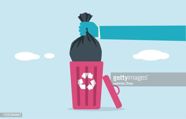 illustrations, cliparts, dessins animés et icônes de ordures - jetée
