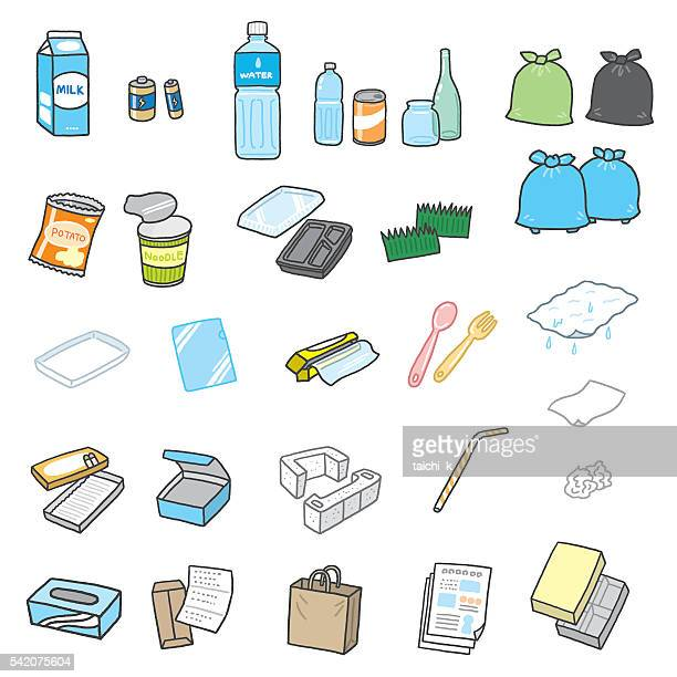 garbage - water bottle stock illustrations, clip art, cartoons, & icons