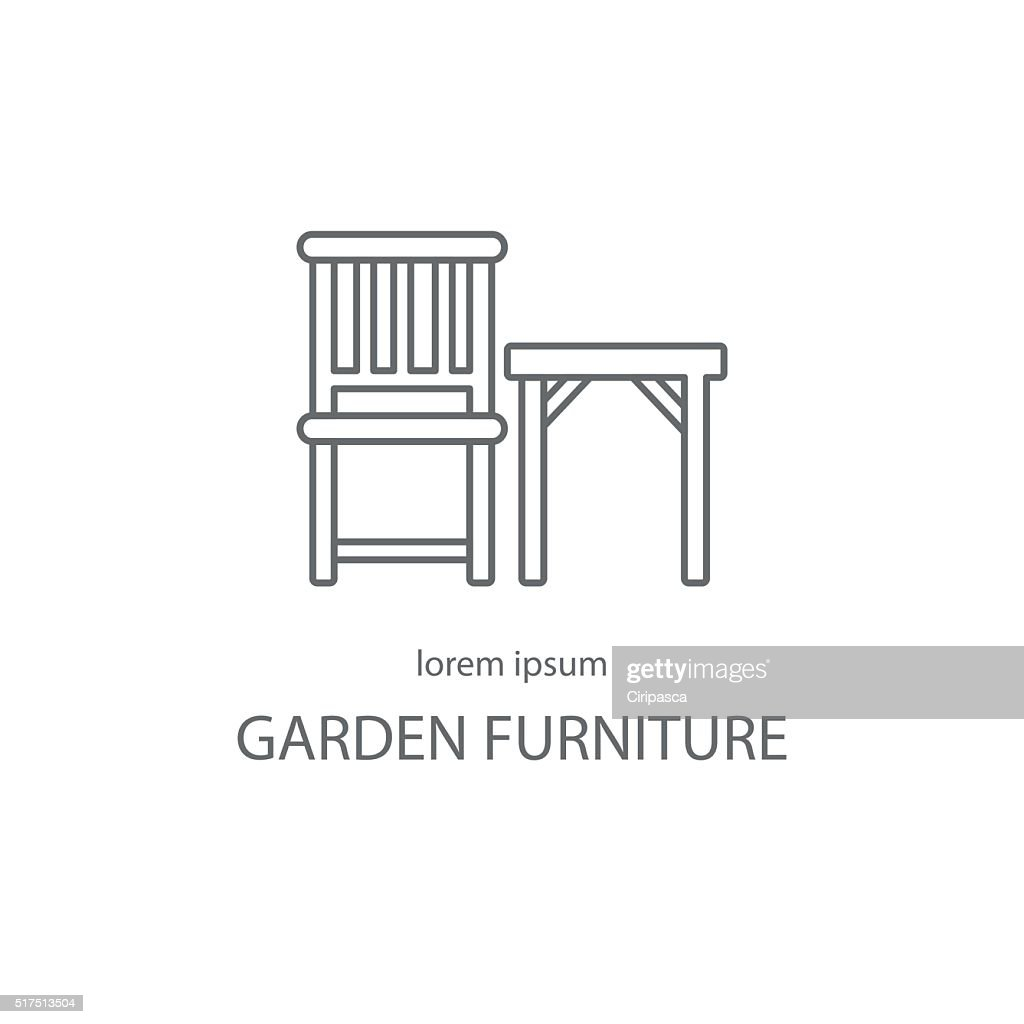Garden furniture logotype design templates.