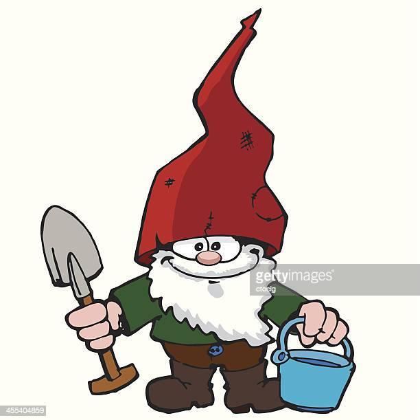 garden gnome - gnome stock illustrations