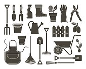 Garden icons. Vector illustration