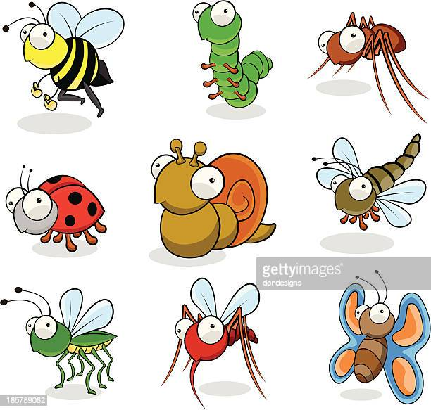 garden insects - bumblebee stock illustrations, clip art, cartoons, & icons
