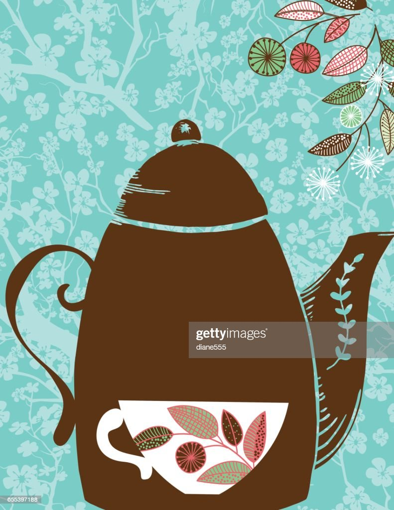 Garden Party Or Afternoon Tea Background Template Vector Art | Getty ...