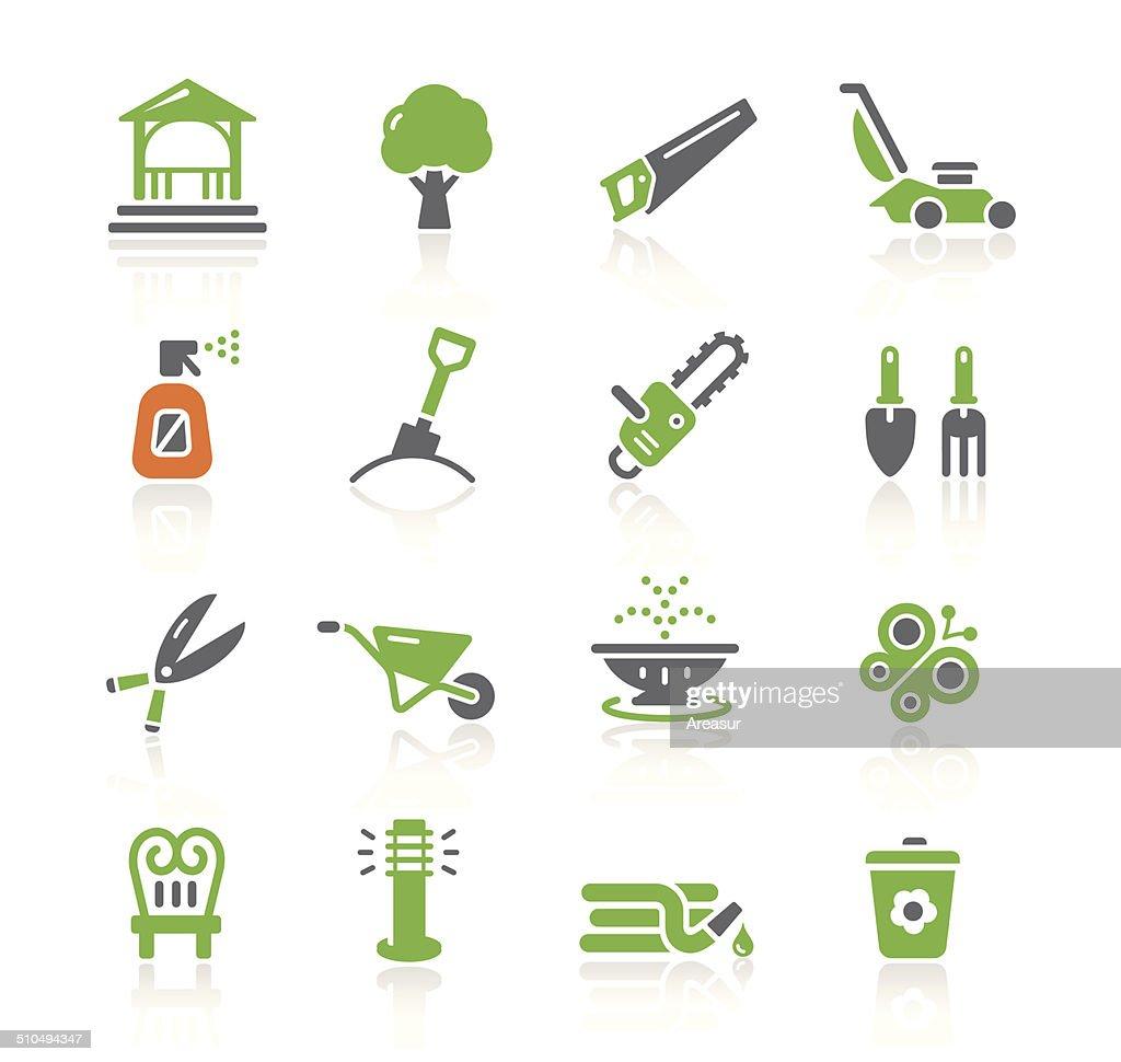 Garden Tools & Furniture Icons | Spring Series : stock illustration