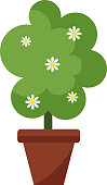Garden tree vector illustration.