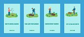 garden work mobile app template people