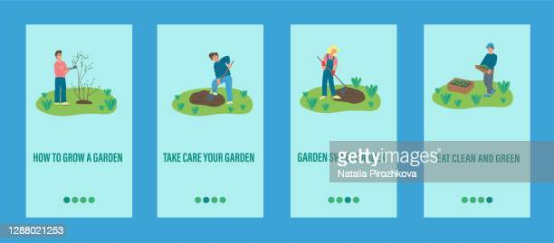 garden work mobile app template people
