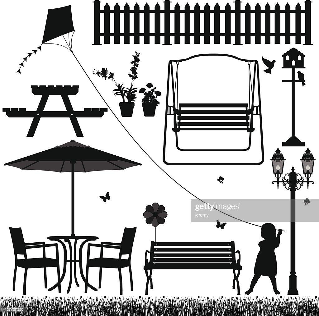Garden Yard Field Park Outdoor Scenario