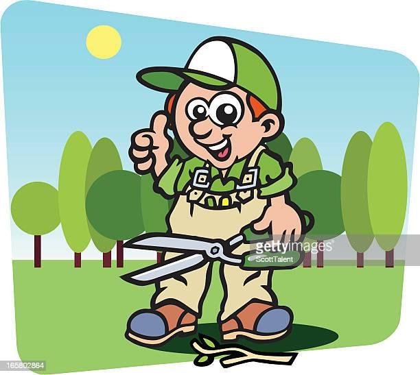 gardener - hecke stock-grafiken, -clipart, -cartoons und -symbole