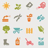 Gardening color variation icons | EPS10