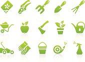 Gardening Equipment Icon Set