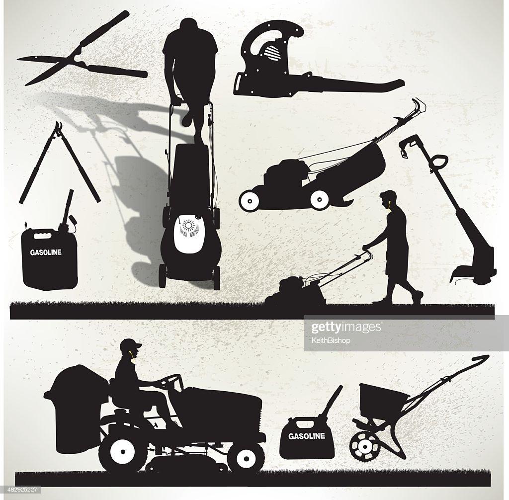 Gardening Equipment - Lawn Mower : stock illustration