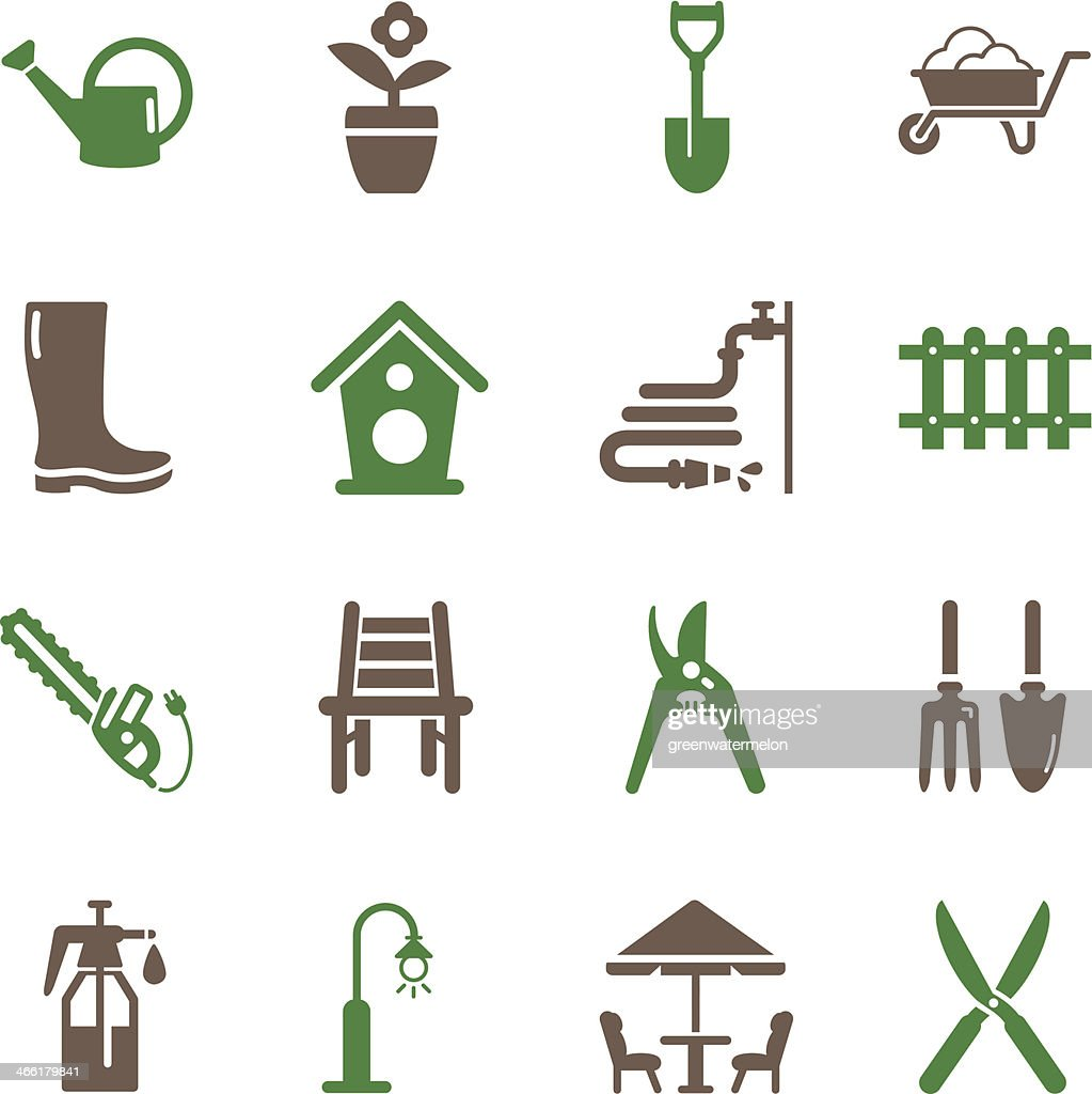 Gardening Icons   Color Series