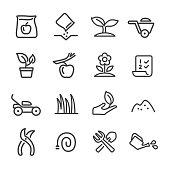 Gardening Icons - Line Series