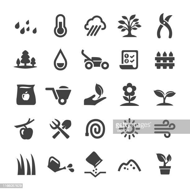 gardening icons - smart series - gardening stock illustrations