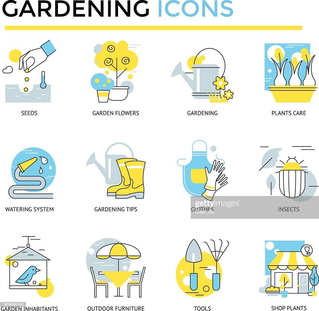 Gardening icons.