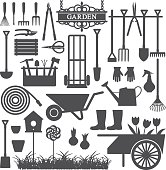 Gardening related vector icons 8